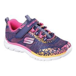 Girls' Skechers Nebula Prism Pop Bungee Lace Sneaker Navy/Multi