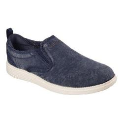 Men's Skechers Relaxed Fit Status Belding Slip On Sneaker Navy