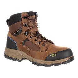 Men's Georgia Boot GB00108 BC 6in Comp Toe Waterproof Work Boot Dark Brown Full Grain Leather