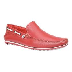 Men's Giorgio Brutini Trayce Driving Moc Red Floater Leather