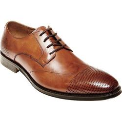 Men's Steve Madden Pasage Cap Toe Shoe Tan Leather
