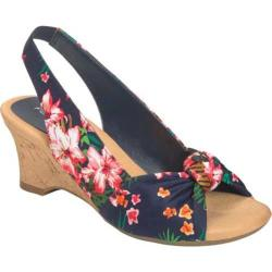 Women's Aerosoles Zen Garden Blue Floral Fabric