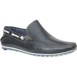 Men's Giorgio Brutini Trayce Driving Moc Navy Floater Leather