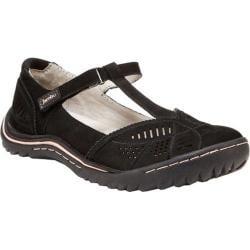 Women's Jambu Bridget T-Strap Shoe Black Nubuck