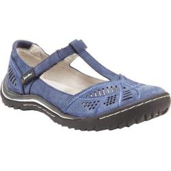 Women's Jambu Bridget T-Strap Shoe Denim Blue Nubuck