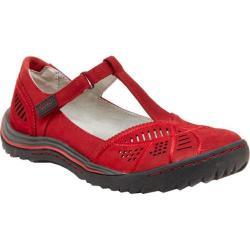 Women's Jambu Bridget T-Strap Shoe Red Nubuck