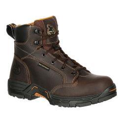 Men's Georgia Boot GB00090 6in DT Insul Hiker Waterproof Work Boot Brown Full Grain Leather