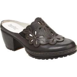 Women's Jambu Balsa Clog Black Vintage Leather/Kid Suede
