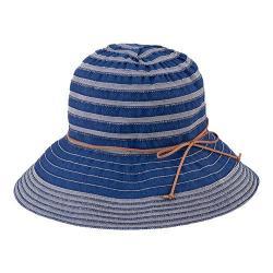 Women's San Diego Hat Company Packable Ribbon Crusher Medium Brim Hat RBM4774 Denim