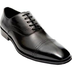 Men's Steve Madden Duron Cap Toe Shoe Black Leather