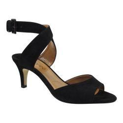 Women's J. Renee Soncino Ankle Strap Sandal Black Suede