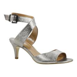 Women's J. Renee Soncino Ankle Strap Sandal Taupe Metallic Leather