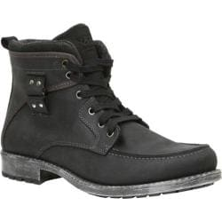 Men's GBX Tate Moc Toe Ankle Boot Black Persia Leather
