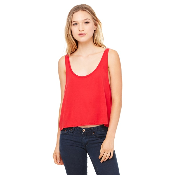 Flowy Women's Boxy Red Tank