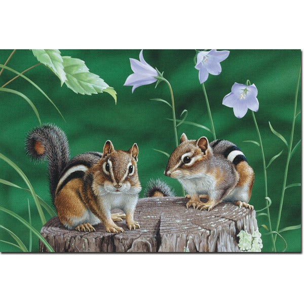 WGI Gallery Chipmunks Wall Art Printed on Wood