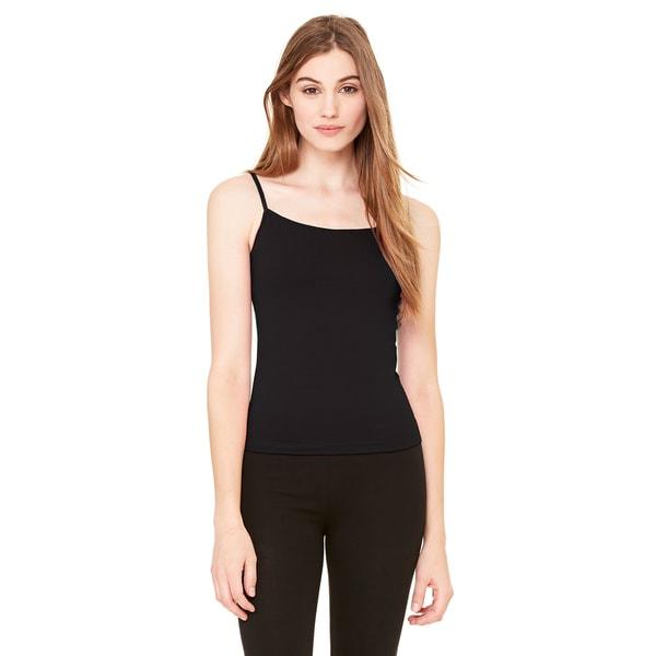 Cotton/Spandex Women's Black Camisole