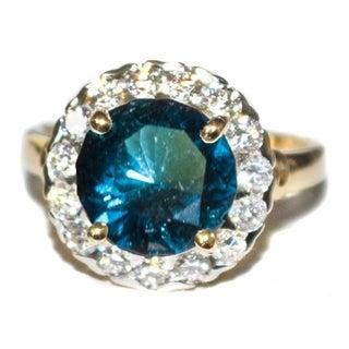 California Girl Jewelry Indicolite Tourmaline Diamond Ring