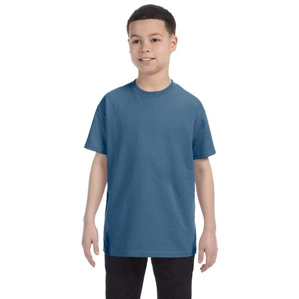 Boys' Indigo Blue Heavy Cotton T-shirt