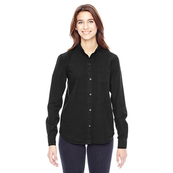 Women's Vintage Black Work Shirt
