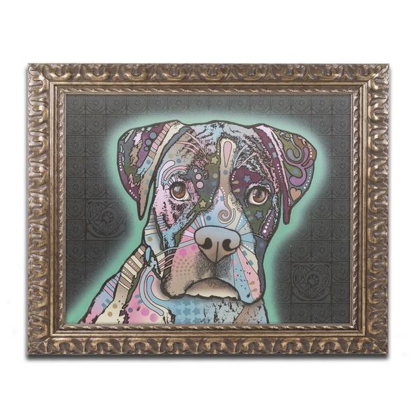 Dean Russo 'Love Thy Boxer' Ornate Framed Art