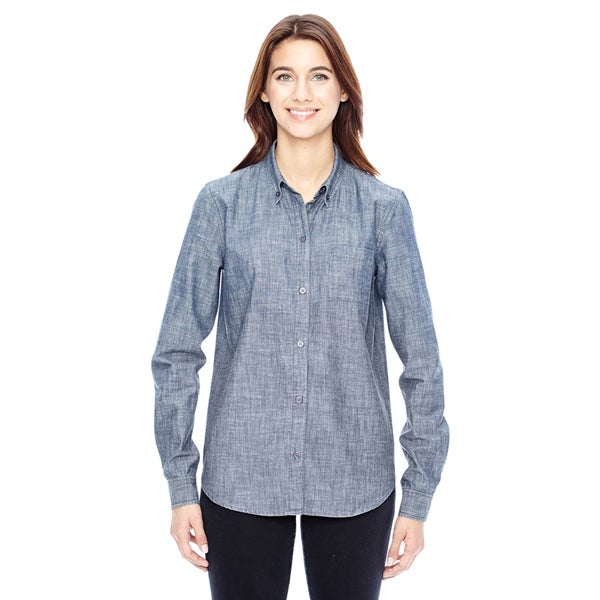 Women's Blue Work Shirt Chambray