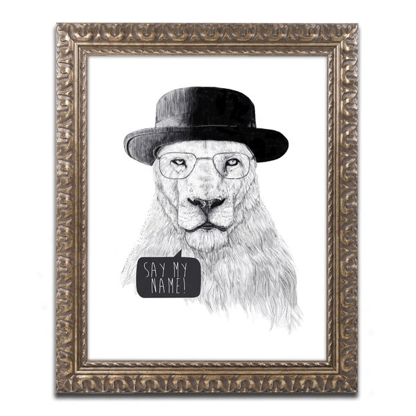 Balazs Solti 'Say My Name' Ornate Framed Art