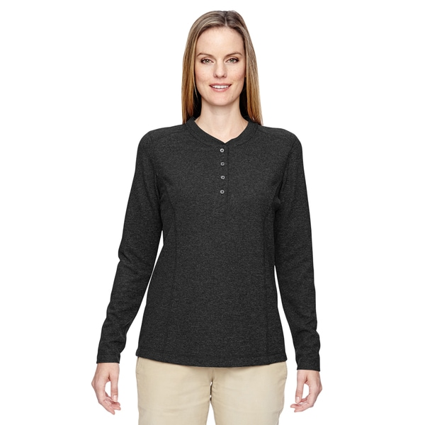 Excursion Nomad Women's Black 703 Performance Waffle Henley