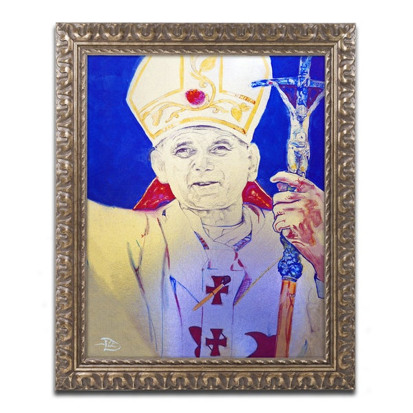 Lowell S.V. Devin 'Pope John Paul II' Ornate Framed Art
