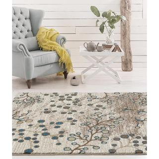 Persian Rugs Floral Design Multi Colored Area Rug (7'10 x 10'6)