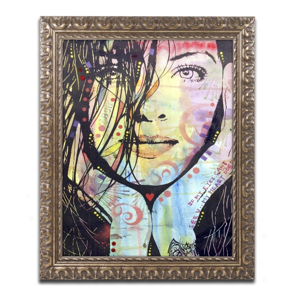 Dean Russo 'My Eyes Cant See U' Ornate Framed Art