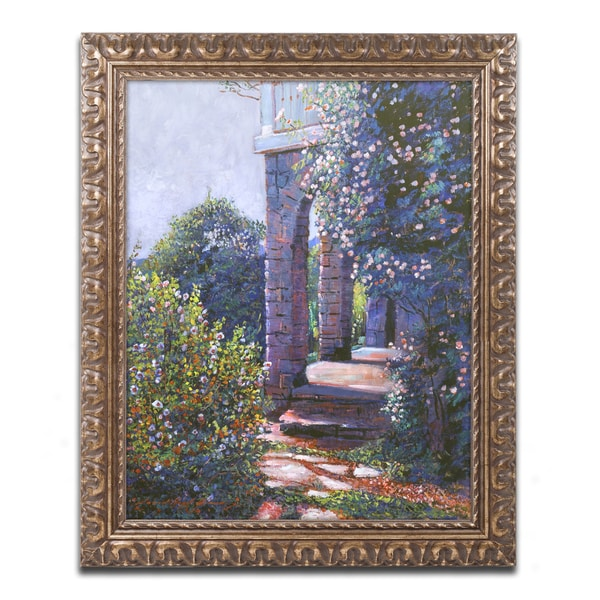 David Lloyd Glover 'Climbing Roses' Ornate Framed Art