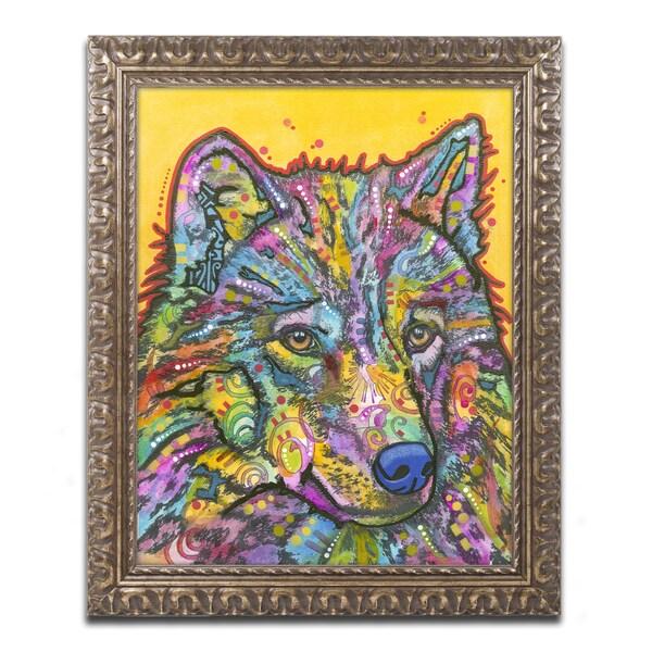 Dean Russo 'Wolf 2' Ornate Framed Art