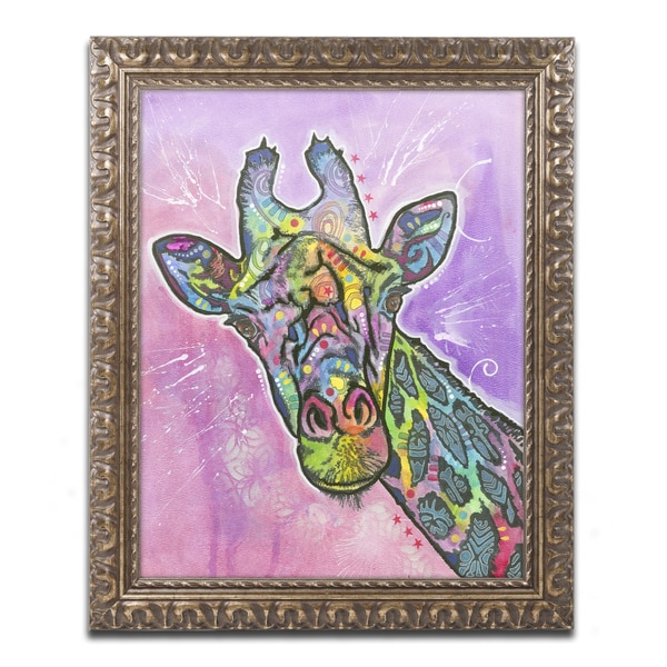 Dean Russo 'Giraffe' Ornate Framed Art