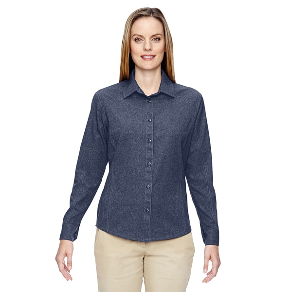 Excursion Women's Navy 007 Utility Two-Tone Performance Shirt