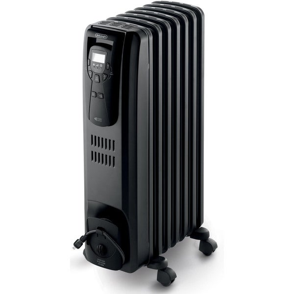 DeLonghi SafeHeat 1500-watt Black Portable Digital Oil-filled Radiator