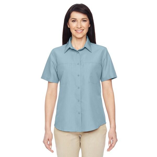 Key West Women's Cloud Blue Short-Sleeve Performance Staff Shirt