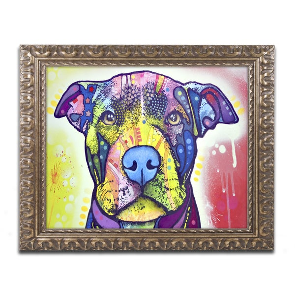 Dean Russo 'Love A Bull This Years Love 2013 Part 1' Ornate Framed Art