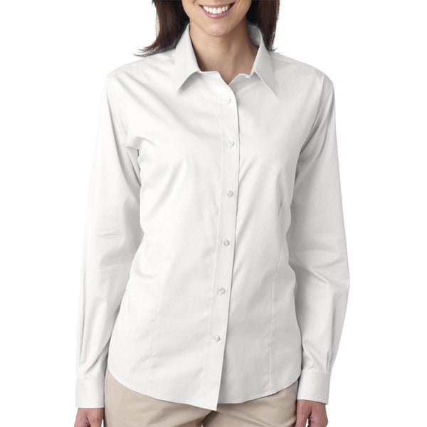 Non-Iron Women's Pinpoint White Shirt