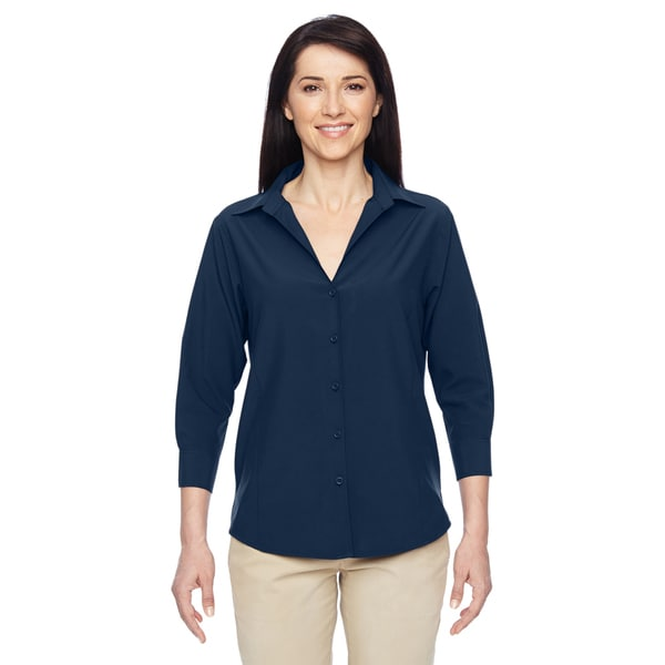 Paradise Women's Navy Three-Quarter Sleeve Performance Shirt