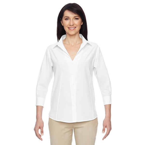 Paradise Women's White Three-Quarter Sleeve Performance Shirt