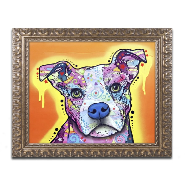 Dean Russo 'A Serious Pit' Ornate Framed Art