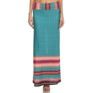 Women's Geometric Maxi Skirt