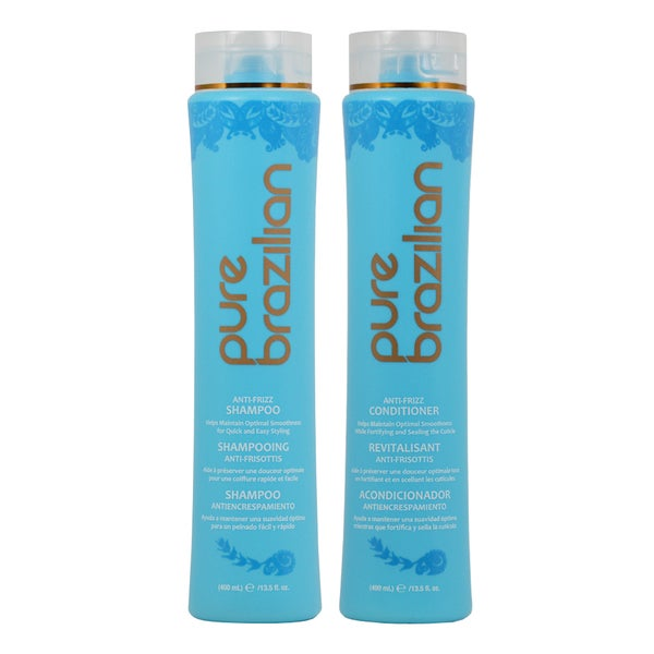 Pure Brazilian Anti-frizz 13.5-ounce Shampoo and Conditioner Set