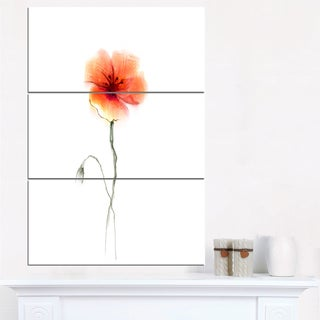 Large Pink and Red Poppy Flower - Large Flower Canvas Wall Art