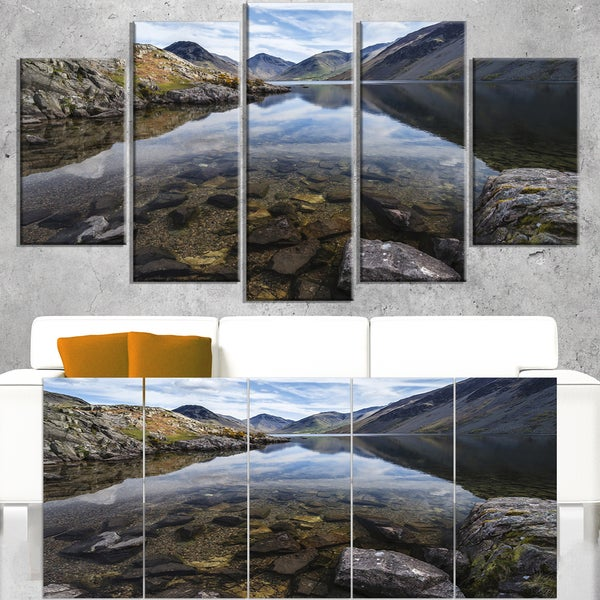 Wast Water with Reflection in Lake - Landscape Artwork Canvas