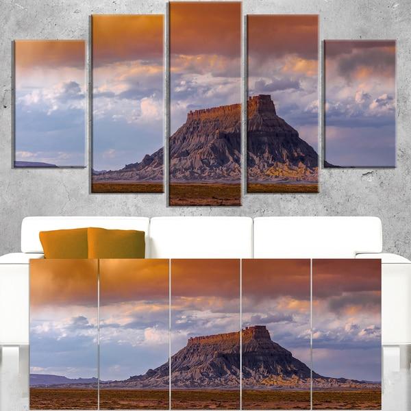 Factory Buttle Utah Panorama - Landscape Artwork Canvas