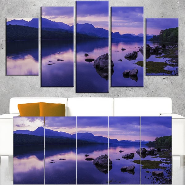 Coniston Water in the Lake District - Landscape Artwork Canvas