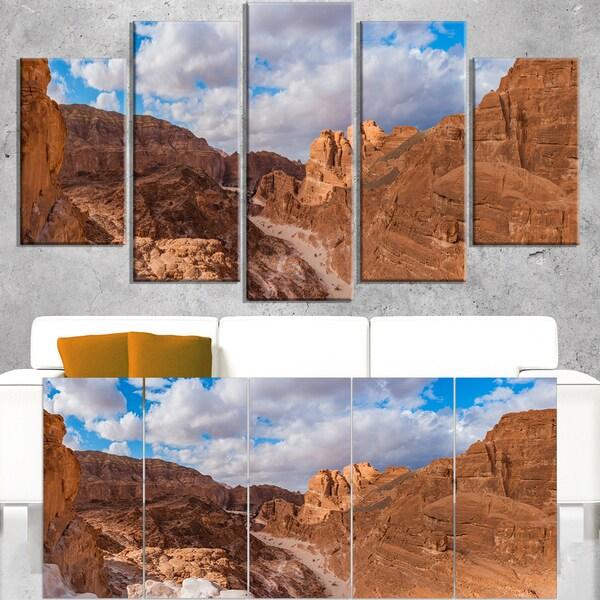 White Canyon at South Sinai Egypt - Landscape Art Canvas Print