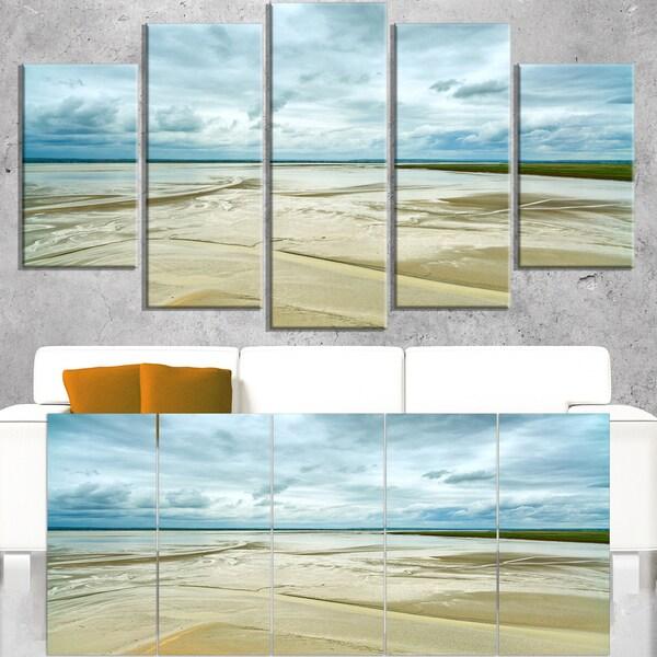 Low Tide in Mont Saint Normandy - Oversized Landscape Wall Art Print
