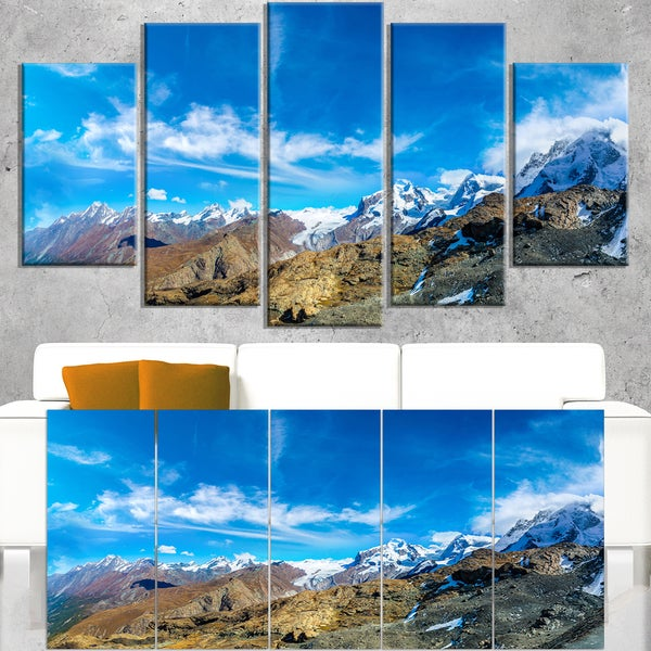Alps Mountains in Switzerland - Landscape Wall Art Canvas Print